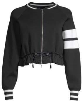 Zoe Jordan Almer Stripe Bomber Jacket