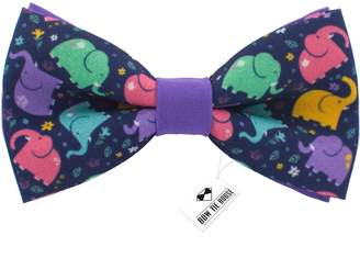 Bow Tie House Elephant pattern bow tie color unisex pre-tied shape