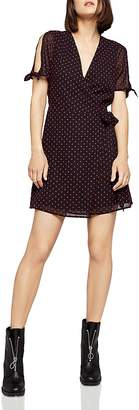 BCBGeneration Clip Dot Wrap Dress