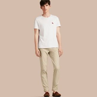 Burberry Slim Fit Cotton Poplin Chinos $225 thestylecure.com