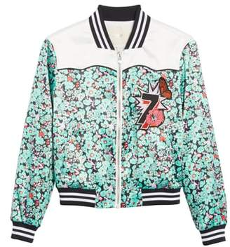 Maje Bert Floral Bomber Jacket