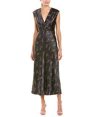 Vince Women's Sprig Floral Crossover Slip Dress