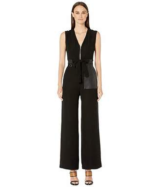 Yigal Azrouel Crepe Suiting Jumpsuit with Zipper Front