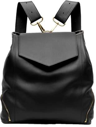 Holly & Tanager - The Professional Leather Backpack Purse In Black