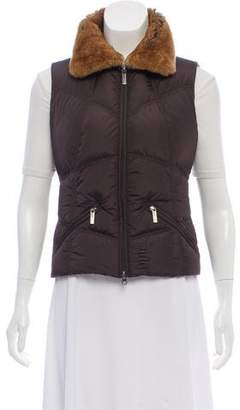 ADD Fur-Trimmed Down Vest