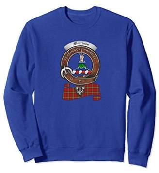 Morrison Scottish Clan Badge Sweatshirt with Tartan
