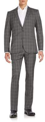 Hugo Boss Genius Plaid Wool Suit