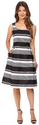 Kate Spade Bay Stripe Fit and Flare Dress Women's Dress
