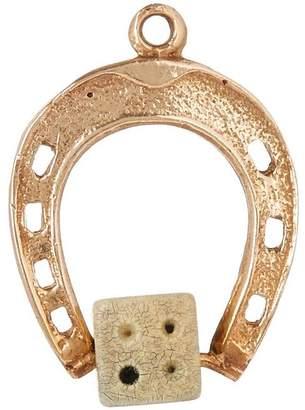 Annina Vogel Vintage Gold Horseshoe Dice Charm