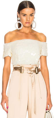 Sally Lapointe Degrade Sequins Bustier