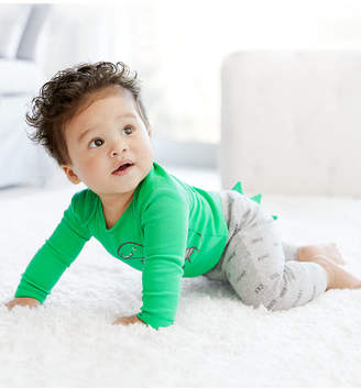 Carter's Carter Baby Boys 3-Pc. Dino-Print Cotton Bodysuits & Pants Set