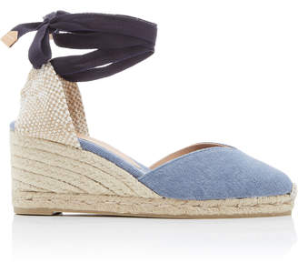 Castaner Chiara Denim Lace-Up Espadrilles
