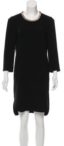 Burberry Burberry Chain-Link Embellished Knee-Length Dress