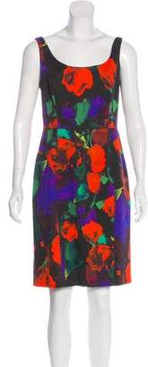 Milly Watercolor Print A-line Dress