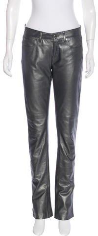 Ralph Lauren Leather Metallic Pants