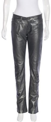 Ralph Lauren Leather Metallic Pants $195 thestylecure.com