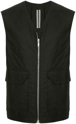 Rick Owens sleeveless zipped vest