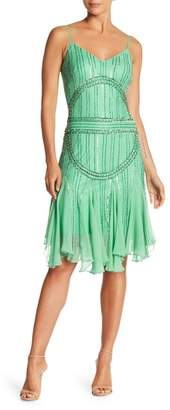 Papillon Sequin Trim Flowy Skirt Dress