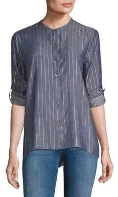 T Tahari Stripe Blouse