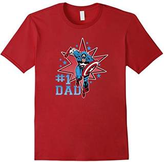 Marvel Captain America Dad Graphic T-Shirt