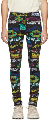 Gucci Multicolor All Over Skinny Jeans
