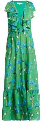 Borgo De Nor - Carlotta Crepe Maxi Dress - Womens - Green Print
