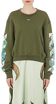 Off-White Women's Fern-Print Cotton Sweatshirt