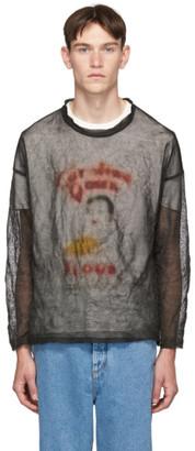 Our Legacy Black Teflon Popover Sweater