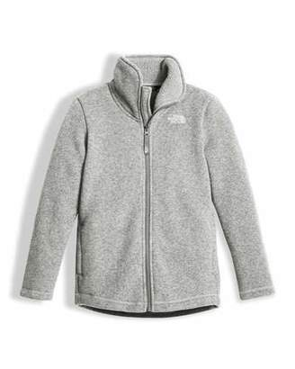 Girls north face fleece girls black video