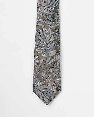 Cerruti Palm Leaf Print Silk Tie