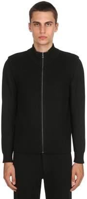Zip-Up Extra Fine Wool Knit Vest