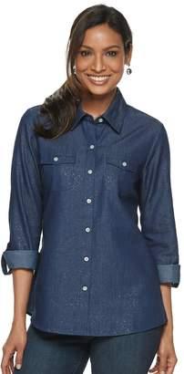 ddb4e66638f22 Women s Cathy Daniels Roll-Tab Chambray Shirt