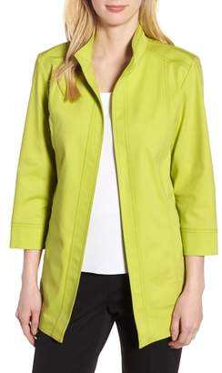 Ming Wang Tie Back Stretch Cotton Jacket