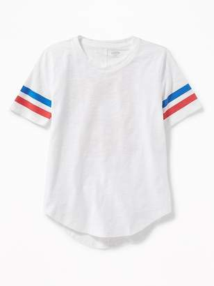 "Old Navy ""Free to Be Me"" Slub-Knit Tunic Tee for Girls"