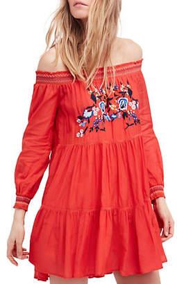Free People Sunbeams Off-the-Shoulder Mini Dress