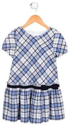 Luli & Me Girls' Plaid A-Line Dress