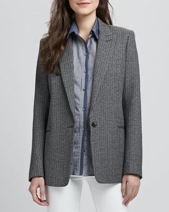 Theory Ganella Patterned Wool Blazer