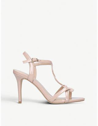 Nine West Demi patent faux-leather heeled sandals