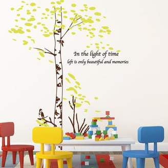 STUDY Wall sticker MiWall MiWall Large Wall Sticker Animation Office Your Livg Room Sofa Background Walls Are Decorated Large Trees Old Trees Leaves A Green Leaf