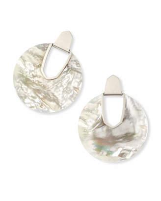 Kendra Scott Diane Silver Statement Stone Earrings