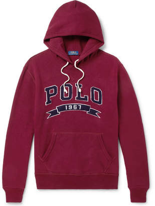 Polo Ralph Lauren Logo-Appliquéd Fleece-Back Cotton-Jersey Hoodie