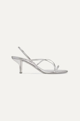 Nicholas Kirkwood Leeloo Metallic Leather Slingback Sandals - Silver