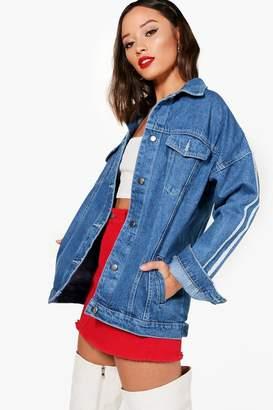 Boohoo Gabriella Stars and Stripe Pocket Crop Denim Jacket Get Authentic Sale Cheapest 100% Original For Sale t63UOqZo