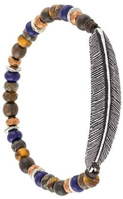 Andrea D'Amico feather stone embellished bracelet