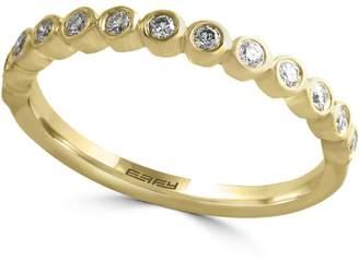 Effy 14K Yellow Gold Single Band Ring with 0.19 CT. T.W. Diamonds