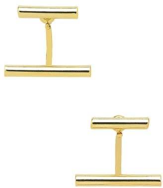 Sterling Forever Parallel Bar Ear Jacket Earrings