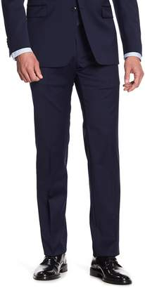 Tommy Hilfiger Navy Woven Mid Rise Trousers - 30-34 Inseam