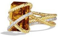 David Yurman Cable Wrap Ring with Diamonds in Gold $3,600 thestylecure.com