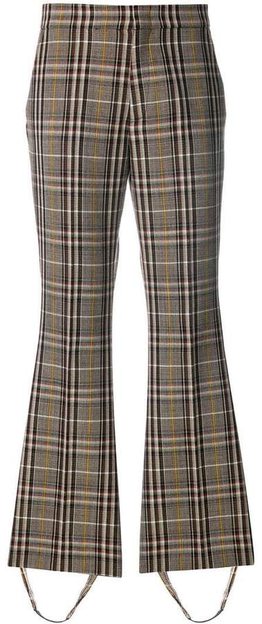 Gucci checked stirrup trousers