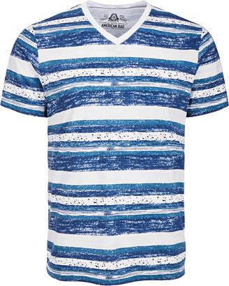 American Rag Men V-Neck Striped Speckled T-Shirt